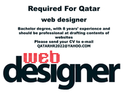 Web Designer- Required for Qatar (Indians Only)