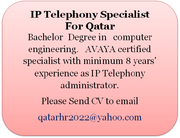 IP Telephony Specialist for Qatar